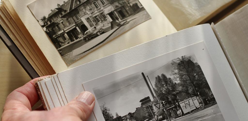 Die gleiche Ansicht 1967 und 1990.
